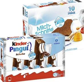 Milchschnitte o. Kinder Pingui @Edeka