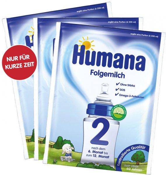 Humana Folgemilch 2 - 3 kostenlose Proben