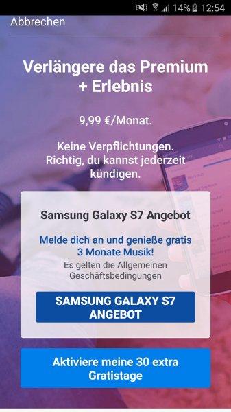 Deezer 3 Monate kostenlos für Samsung Galaxy S7 Besitzer