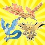 Pokemon die drei Legendären Vögel Arktos, Zapdos, Lavados