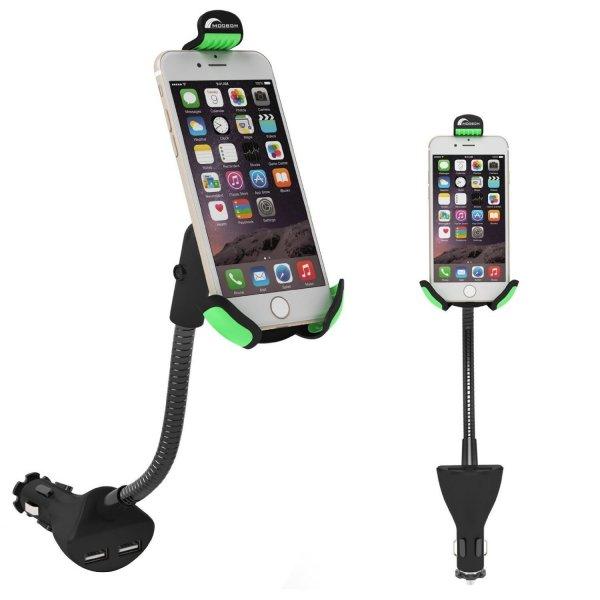 @Amazon: Kombigerät - KFZ Handyhalterung und 2fach USB Ladegerät ab 9,99€ mit Prime