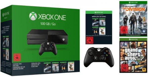 [Media Markt] Xbox One Sparket 16 500GB + 2. Controller + The Division + GTA V + z.B. Forza Motorsport 6