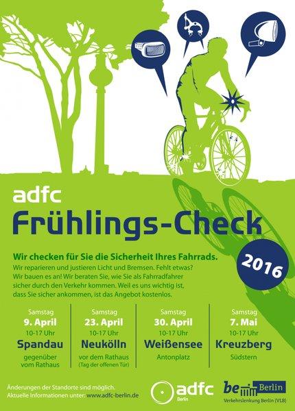 [Lokal Berlin] ADFC Frühling Fahrrad Check erster Termin: 09.04 (Spandau)