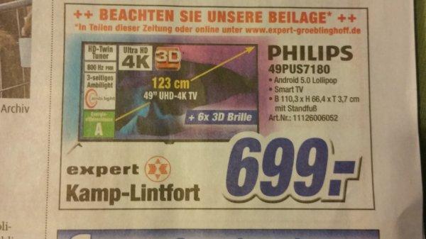 Lokal PHILIPS 4K Ultra HD TV 49 PUS 7180 699€ oder 55x27 für 899€