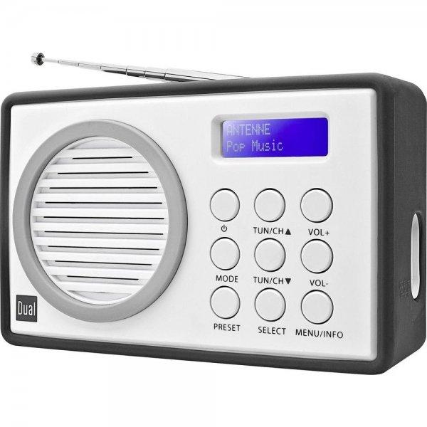 [Conrad]  DAB+ Kofferradio Dual DAB 81 DAB+, UKW Grau, Weiß für 24,44 Euro inkl. Versand