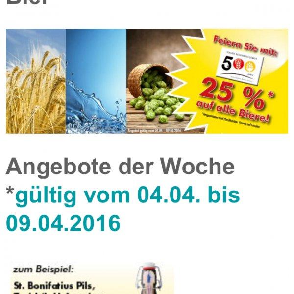 (Fulda) Logo Getränke Märkte 25% auf alle Biere bis 09.04.2016