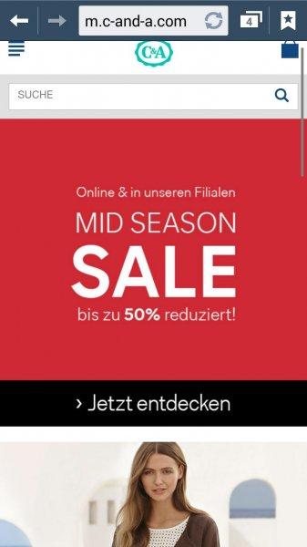 c&a sale online und in filialen