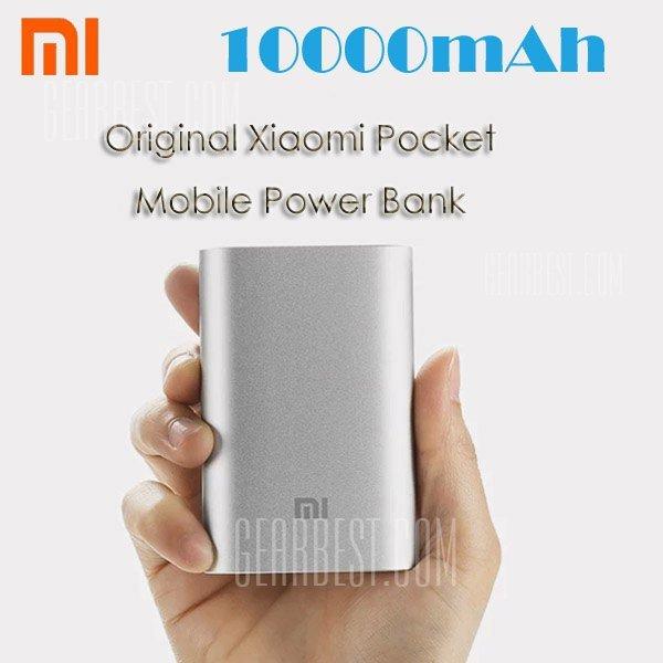 [Gearbest] Original XIAOMI 5.1V 2.1A 10000mAh Power Bank