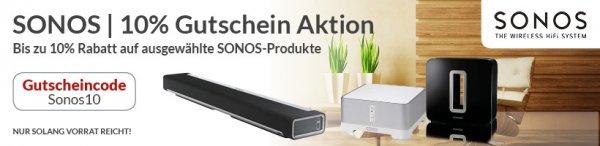 10% Sonos Rabatt auf ausgewählte Produkte