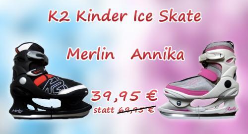 K2 Junior Ice Skate Schlittschuh Modell ANNIKA JR | MERLIN VII   UVP: 69,95