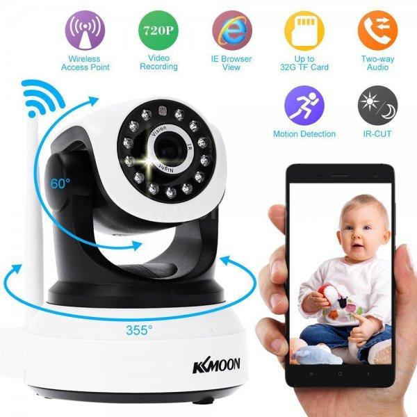 Drahtlose Wlan Netzwerkkamera (z.B. als Babyüberwachungskamera nutzbar) 720P HD