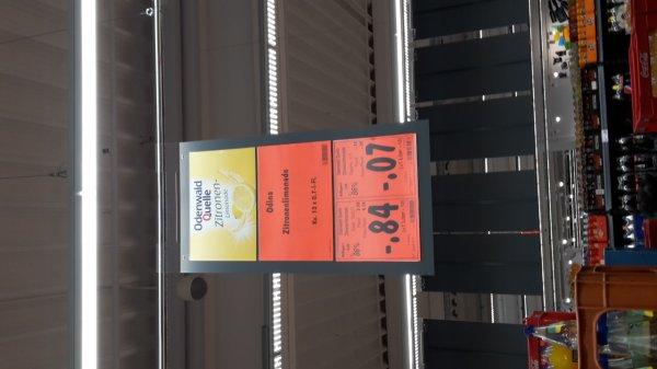 [Kaufland ggf lokal Bad Kreuznach] Abverkauf Odenwaldquelle Zitronen- und Orangenlimonade 0,7 L Glasflasche 0,07 Euro