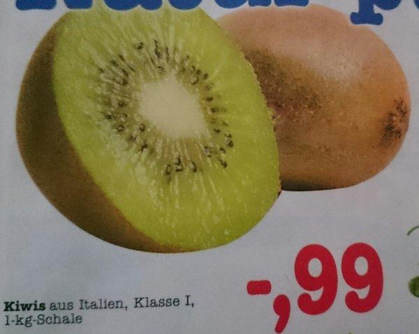 [Marktkauf Mannheim/Weinheim] KW15 Kiwis aus Italien, Klasse 1, 1-kg-Schale