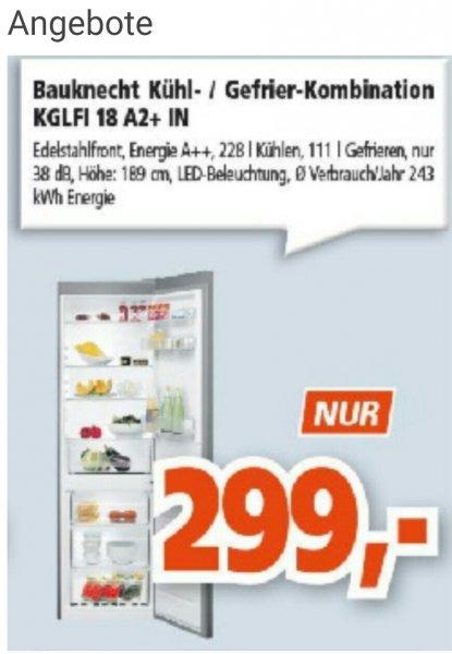 [Lokal Wiesbaden] Bauknecht KGLFI 18 A2+ IN // Kühl-/Gefrierkombination