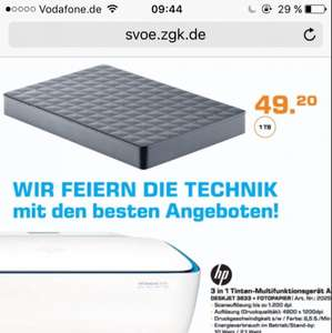 Seagate Expansion portable 1TB [lokal Saturn Köln]