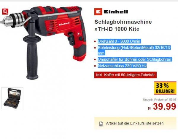 Schlagbohrmaschine TH-ID 1000 Kit [Kaufland Sindelfingen / überregional]