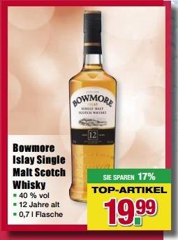 [Handelshof] Bowmore 12J ab dem 16.04.2016 bis zum 22.04.2016 für 23.79 Euro