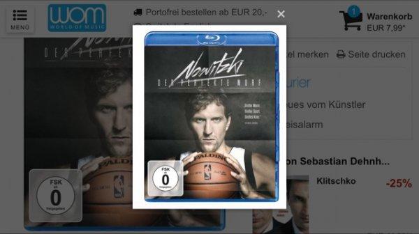 """Blu Ray """"Der perfekte Wurf"""" Dirk Nowitzki"""