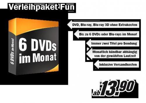 60 Tage kostenlos DVD-Verleih von Media Markt testen