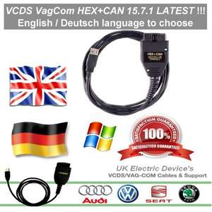 2016 Vag-com VCDS 15.7.1 HEX CAN USB Interface Diagnose cable for AUDI VW SEAT SKODA €27,95