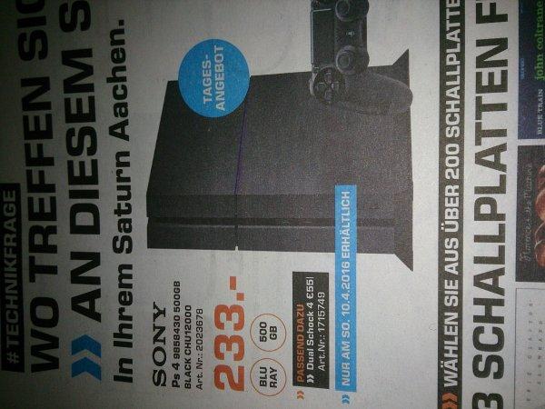 [Lokal Saturn Aachen] Sony Playstation 4 500GB CHU 12000