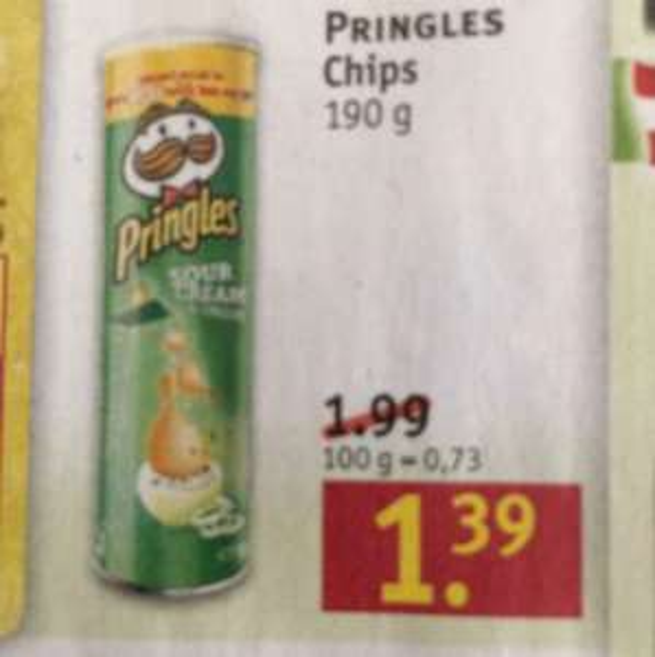 Rossmann - Pringles 1,26 euro