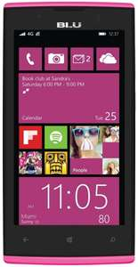 BLU Win JR LTE Smartphone (4,5 Zoll (11,4 cm) Touch-Display, 8 GB Speicher, Windows 8.1) pink ab  €40,85 @ Amazon WHD UK