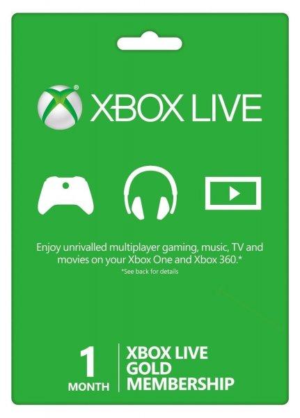 Trick: 1 Monat Microsoft Xbox Live Gold Mitgliedschaft für 0,87€