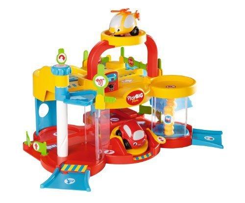 [real,-] BIG Play Flizzies Multi-Garage - Hubschrauberlandeplatz, 2 Spielebenen, Hebebühne, Waschstation mit beweglichen Lamellen für 17,47€