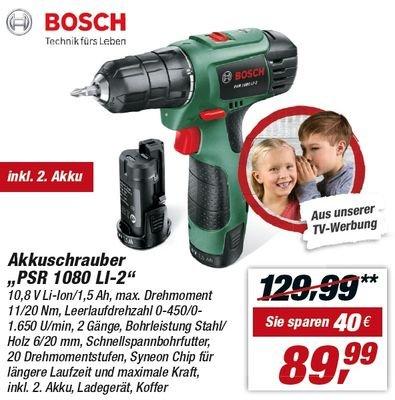 [LOKAL] Toom-Baumärkte - Bosch PSR 10,8 LI-2 (2 x 1,5 Ah +Koffer)