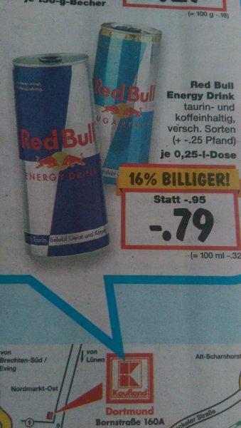 Redbull 0.25l für 0.77€ Kaufland (Dortmund Lokal)