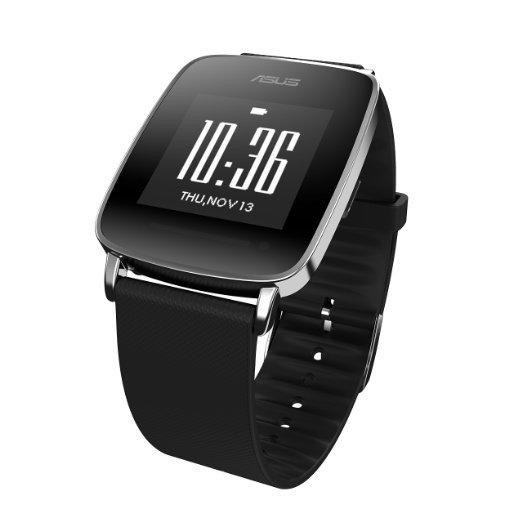 Asus VivoWatch (3,3 cm (1,3 Zoll) Touch Display, Bluetooth 4.0, 10 Tage Akku-Laufzeit, iOS, Android) schwarz für 89,90 € @ Zackzack