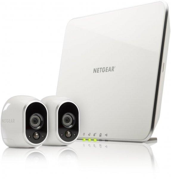 @Amazon IT: Netgear Arlo Smart Home mit 2 HD-Kamera-Sicherheitssystem VMS3230-100EUS (100% kabellos, Indoor/Outdoor, Bewegungssensor, Nachtsicht) weiß für 206,32€