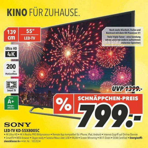 "[Medimax Gera] Sony KD-55X8005C 55"" 4K UHD LED-TV für 799€"