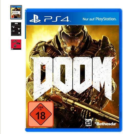 Gratis DOOM Pin-Set zum Doom Day One Edition 100% Uncut PlayStation 4 (Vorbestellung)