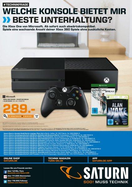 [Saturn Berlin/Potsdam] Xbox One + Quantum Break + Alan Wake für 289€
