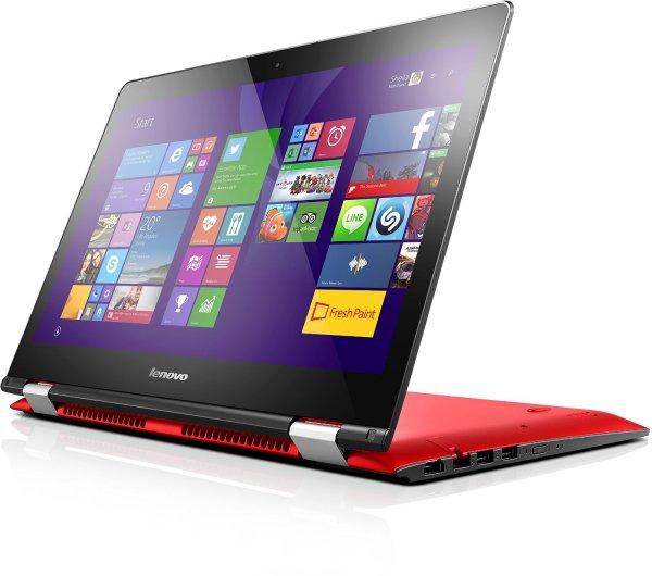AMAZON: Lenovo YOGA 500,14 Zoll FHD IPS Matt, Convertible, i7-5500U, 3GHz, 8GB RAM, Hybrid 1TB HDD + 8GB SSHD, NVIDIA GeForce 940M 2GB, Touchscreen, Win 8.1 (kostenloses Update auf WIN10) rot