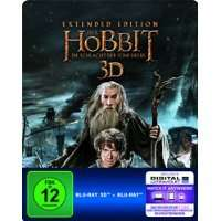 [Amazon]Der Hobbit: Die Schlacht der fünf Heere -  Extended Edition Steelbook 3D Blu-ray] [Limited Edition]