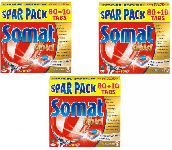 3x Somat Gold (3x90= 270 Tabs) Spülmaschinentabs für 37,95€ inkl. Versand [Dealclub]