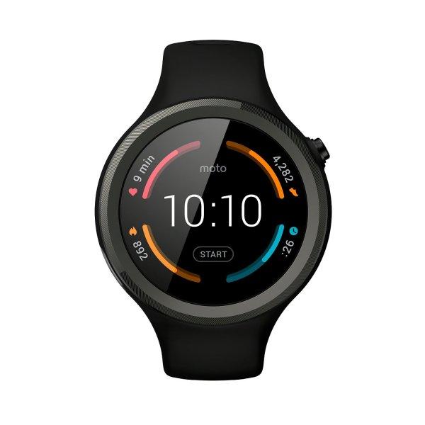 [amazon.fr]  Motorola Moto 360 Sport Smartwatch - schwarz (GPS, Pulsmessung, V2)