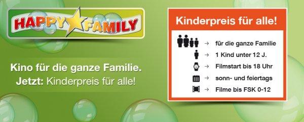 [Cinestar] Happy Family, Kino  an Sonn- und Feiertagen für Familien zum Kinderpreis von 5,50€
