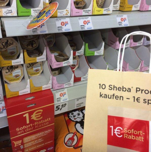 Sheba Katzenfutter (Real) nur 0,21€!