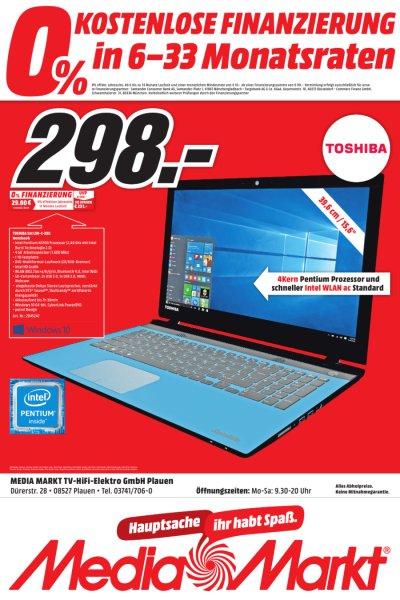 [lokal Plauen] Toshiba Satellite L50-C-22X 39,6 cm (15,6 Zoll HD) Notebook (Intel Pentium N3700, 4GB RAM, 1TB HDD, Intel HD Graphics, DVD, Win 10) für 298,-€