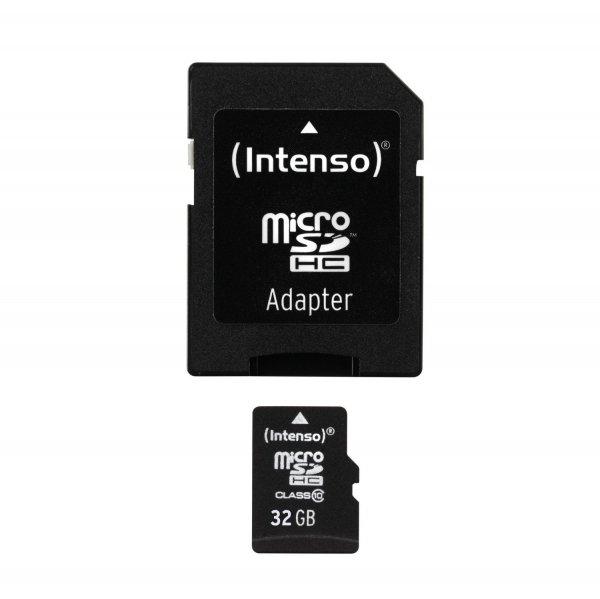 Amazon Prime - Intenso Micro SDHC 32GB Class 10 Speicherkarte inkl. SD-Adapter