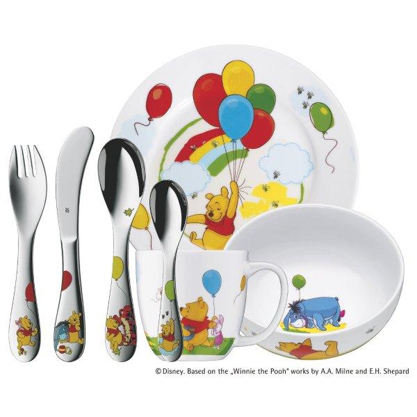 Amazon - update: jetzt 2€ günstiger -WMF Kindergeschirr-Set 7-teilig Winnie the Pooh Cromargan Edelstahl Rostfrei 18/10