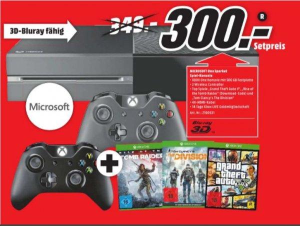 [Lokal Mediamarkt Gütersloh/Lippstadt] XBoxOne 500GB inc.Rise of the Tomb Raider + The Division + GTA 5 + 2. Controller für 300,-€