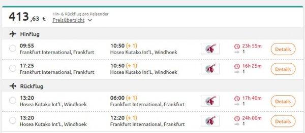 (Quatar Air // Opodo) Windhoek/Namibia ab Frankfurt 414€ (Jan '17 // viele Angebote ab Okt. '16)