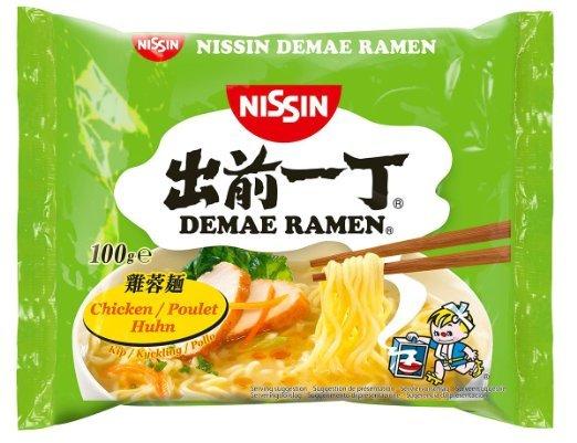 Nissin Instant Nudeln Demae Huhn 30x 100g für 8,12€ (Prime) @ Amazon WHD (MHD 30.06.16)