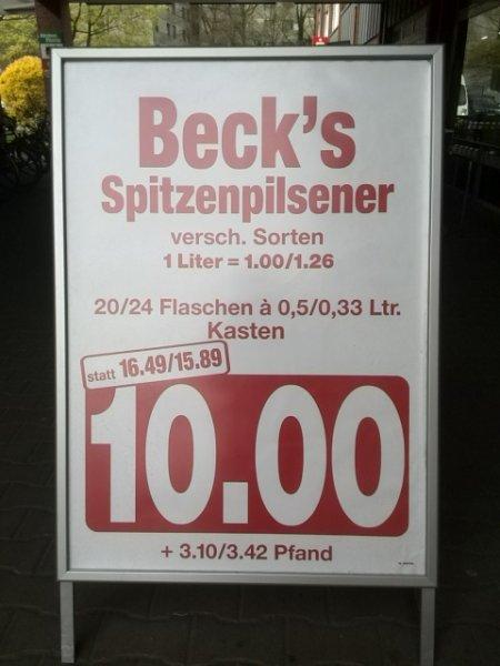 (Lokal?) Rewe - Beck's Pils Kiste 10€