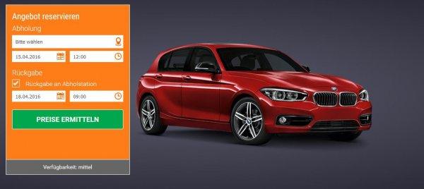 BMW 1er pro Tag ab EUR 36,00